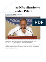 Continued NPA Offensive vs Gov't 'Puzzles' Palace
