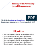 Dealing Effectively with Personality Conflicts and Disagreements.ppt