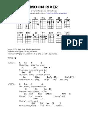 MOON RIVER - Ukulele Chord Chart pdf