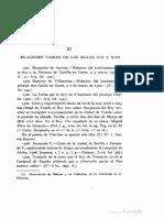 Pérez Pastor - Relaciones, Catálogo