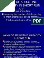 Way of Adjusting Capacity
