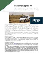 WashTec participará en el Rally de Tierra de Madrid