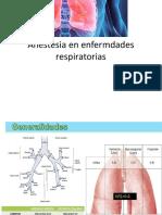 Anestesia en Enfermedades Respiratorias