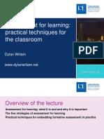 Dylan William AfL Talk 10-11