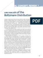 Derivation of the Boltzmann Distribution