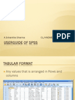 User Guide Of SPSS