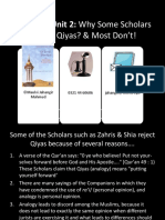 Why Some Scholars Reject Qiyas Acrobat