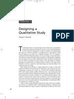 Maxwell Designing a Qualitative Study