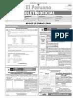 Diario Oficial El Peruano, Edición 9745. 03 de julio de 2017