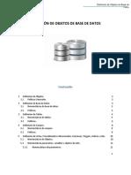 Estandarización Definición de Objetos de Base de Datos