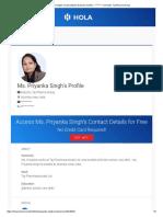 Ms Priyanka Singh