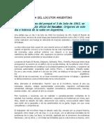 Dia Del Locutor en Argentina
