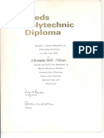 Leeds Polytechnic Diploma