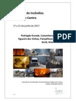 Relatorio de prejuízos procovados pelos incêndios na região Centro
