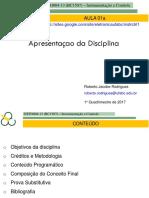01a Apresentacao Da Disciplina 2017 1