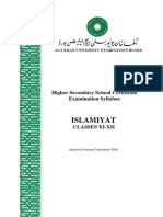 Islamiyat_Classes XI-XII _NC 2002_Latest Revision June 2012