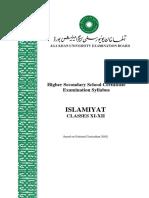 Islamiyat_Classes XI-XII _NC 2002_Latest Revision June 2012
