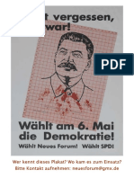 1990 Neues Forum Plakat Mit Stalin
