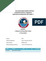 Informe 2 Mecanica de Fluidos-Ensayos 1 y 2