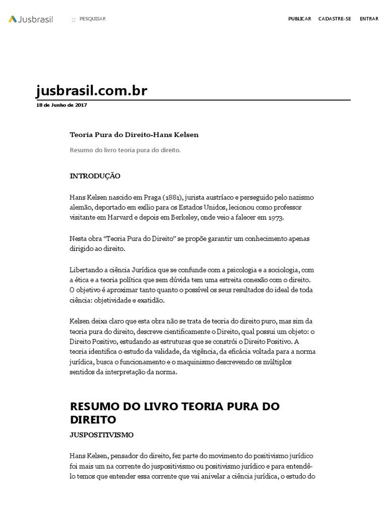 DO PARA KELSEN PURA BAIXAR LIVRO TEORIA DIREITO HANS
