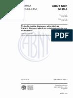 NBR 5419-4-2015 - Proteção Contra Descargas Atm - Parte 4 - Sistemas Elétricos e Eletrônicos Internos Na Estrutura