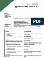 NBR 1367_1991 - Área de Vivência Em Canteiros de Obras