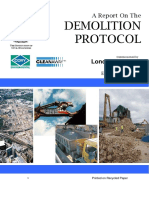 Report - Demolition Protocol