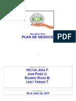 Plan de Negocios 2017 1