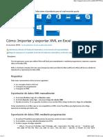 Cómo_ Importar y Exportar XML en Excel