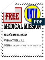 Medical Mission Ni Kuya Daniel Razon