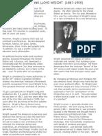 18 Background on Frank Lloyd Wright
