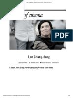 Lee Chang-dong • Great Director profile • Senses of Cinema.pdf