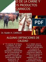 Calidad de La Carne y de Los Productos