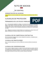 Copia de Plantilla Pacto de Socios - Primera Versión