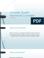 1- Software Quality Assurance Concepts