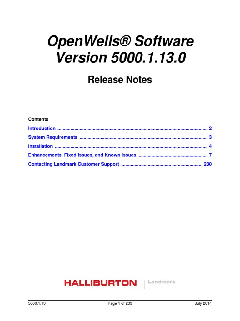 openwells 5000 1 13 0 release rlsnotes oracle database