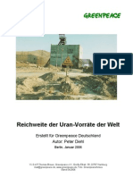Reichweite der Uran-Vorräte der Welt (Langfassung)