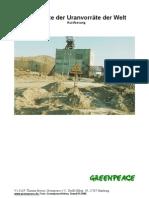 Reichweite der Uranvorräte der Welt (Kurzfassung)