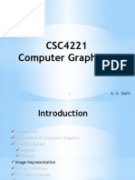 CSC4221 Lecture 3 - Image Representation