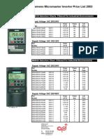 Siemens Micromaster Inverter Price List.pdf