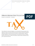 Difference Between Direct Tax and Indirect Tax (With Similarities and Comparison Chart) - Key Differences