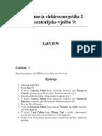 Praktikum Iz Elektroenergetike 2 - Laboratorijske Vjezbe 9