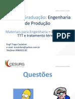10.1-Trasnformação de Fases e Tratamento Térmicos - Questões