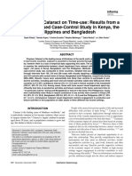 The Impact of Cataract on Time-use Results From a Population Based Case-control