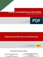 Aspectos generales de la Nueva Ley de Contrataciones del Estado