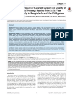 The Long Term Impact of Cataract Surgery on Quality of Life, Activities and Poverty Results From a Six Year Longitudinal Study in Bangladesh and the Philippines