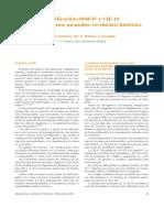 Clasificación DSM-IV y CIE-10 Evolucion Historica
