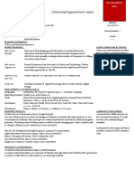 One-Page CV Format