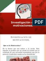 Investigacion de Motivaciones