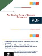 Neoclassical Theory of Economic Development (1)